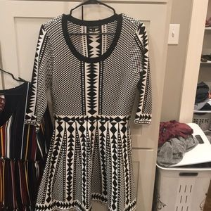 Black and white Nina Leonard Dress
